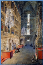 Alexeyev, Fyodor Yakovlevich - Interior in the Assumption Cathedral in the Moscow Kremlin