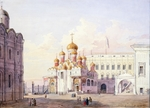 Korneyev, A.G. - The Cathedral Square at the Moscow Kremlin
