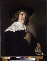 Hals, Frans I - Portrait of a Young Man Holding a Glove