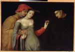 French master - A scene from Commedia dell'arte (Two Ages)