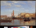 Beggrov, Alexander Karlovich - View of St. Petersburg from the Neva
