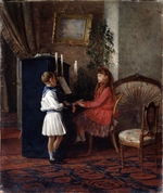 Lemoch, Kirill Vikentievich - Children at the piano