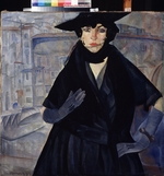 Grigoriev, Boris Dmitryevich - A lady in Black