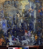 Sapunov, Nikolai Nikolayevich - Stage design for the theatre play The mask of the red death by E.A. Poe