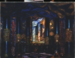 Sudeykin, Sergei Yurievich - Stage design for the theatre play Other side of Life by J. Benavente