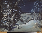 Vasnetsov, Viktor Mikhaylovich - Stage design for the theatre play Snow Maiden by A. Ostrovsky