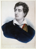 Anonymous - Portrait of the poet Lord George Noel Byron (1788-1824)