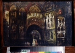Korovin, Konstantin Alexeyevich - Stage design for the opera Faust by Ch. Gounod