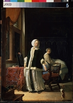 Mieris, Frans van, the Elder - Morning of a Young Lady