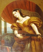Kiprensky, Orest Adamovich - Portrait of Countess Maria Potozky with guitar
