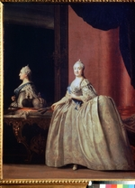 Erichsen, Vigilius - Empress Catherine II before the mirror