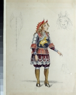 Nordmark, Franz Iosifovich - Costume design for the ballet The Little Humpbacked Horse by C. Pugni