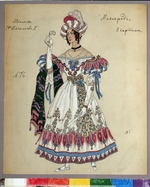 Golovin, Alexander Yakovlevich - Costume design for the play The Masquerade by M. Lermontov