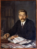 Brodsky, Isaak Izrailevich - Portrait of the author Maxim Gorky (1868-1939)