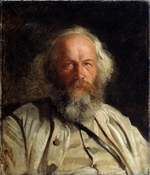 Ge, Nikolai Nikolayevich - Portrait of the theorist of anarchism Mikhail A. Bakunin (1814-1876)