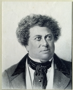 Timm, Vasily (George Wilhelm) - Portrait of the author Alexandre Dumas (1824-1895)