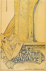 Mucha, Alfons Marie - Poster for the theatre play Gismonda by V. Sardou (Lower part)