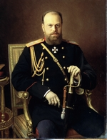 Kramskoi, Ivan Nikolayevich - Portrait of the Emperor Alexander III (1845-1894)