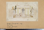 Simov, Viktor Andreyevich - Stage design for the opera Eugene Onegin by P. Tchaikovsky