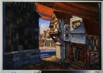 Petrov-Vodkin, Kuzma Sergeyevich - Stage design for the opera The Maid of Orleans by P. Tchaikovsky