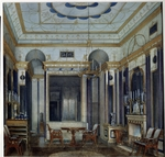 Hau, Eduard - The Drawing Room of the Empress Maria Alexandrovna in the Great palace of Tsarskoye Selo