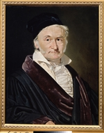 Jensen, Christian Albrecht - Portrait of the Mathematician, Astronomer and Physicist Carl Friedrich Gauss (1777-1855)