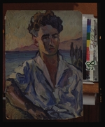 Lentulov, Aristarkh Vasilyevich - Portrait of the poet Josef Utkin (1903-1944)