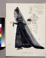 Golovin, Alexander Yakovlevich - Costume design for the opera The stone Guest by A. Dargomyzhsky
