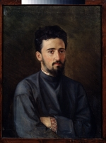 Malyshev, Mikhail Georgievich - Portrait of the author Vsevolod Mikhailovich Garshin (1855-1888)
