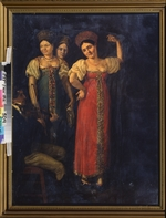 Russian master - Dance. Three women and a violinist