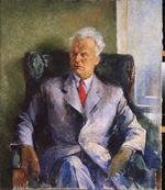 Williams, Pyotr Vladimirovich - Portrait of the writer, producer and director of films Olexandr Dovzhenko (1894-1956)