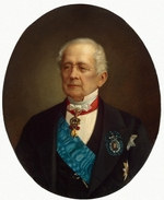 Bogatsky, Nikolai Timofeyevich - Portrait of  the Statesman, Diplomat and Chancellor Count Alexander M. Gorchakov (1798-1883)