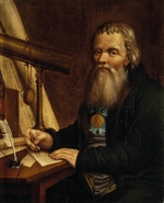 Vedenetsky, Pavel Petrovich - Portrait of the mechanic and inventor Ivan P. Kulibin (1735-1818)