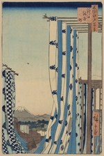 Hiroshige, Utagawa - The Dyers' District in Kanda (One Hundred Famous Views of Edo)