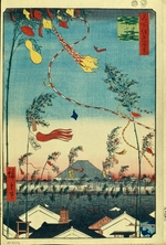 Hiroshige, Utagawa - Prosperity Throughout the City during the Tanabata Festival (One Hundred Famous Views of Edo)