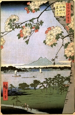 Hiroshige, Utagawa - Massaki and the Suijin Grove by the Sumida River (One Hundred Famous Views of Edo)