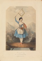 Anonymous - Ballet dancer Fanny Cerrito (1817-1909) in the Ballet La Vivandière