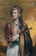 Phillips, Thomas - Portrait of the poet Lord George Noel Byron (1788-1824) in Albanian dress