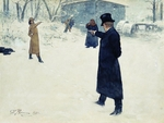 Repin, Ilya Yefimovich - Duel. Illustration for the novel in verse Eugene Onegin by A. Pushkin