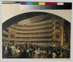 Duruy, Jean Alexandre - Audience in a box of the Bolshoi Theatre