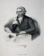 German master - Portrait of the composer Joseph Haydn (1732-1809)