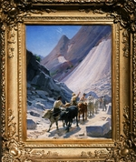 Ge, Nikolai Nikolayevich - Transportation of Marble blocks in Carrara