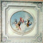 Monighetti, Ippolit Antonovich - Design of a Plafond over the staicase for the Anichkov Palace