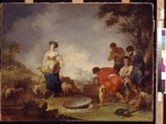 Zick, Johann Rosso Januarius - Jacob Meeting Rachel at the Well