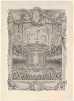 Cochin, Charles-Nicolas, the Younger - Premiere of La princesse de Navarre by Jean-Philippe Rameau on 23 February 1745 in the Grande Écurie