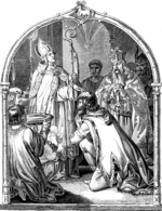Kirchhoff, Johann Jakob - Baptism of Saxon leader Widukind (Illustration from the Geschichte des deutschen Volkes by E. Duller)