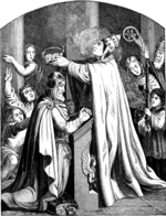 Kirchhoff, Johann Jakob - The Coronation of Emperor Charlemagne by Pope Leo III (Illustration from the Geschichte des deutschen Volkes by E. Duller)