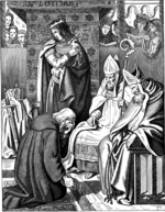 Kirchhoff, Johann Jakob - Louis the Pious making penance at Attigny in 822 (Illustration from the Geschichte des deutschen Volkes by E. Duller)