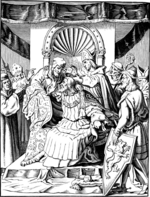 Kirchhoff, Johann Jakob - The abdication of Emperor Henry IV in Ingelheim (Illustration from the Geschichte des deutschen Volkes by E. Duller)
