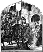 Kirchhoff, Johann Jakob - The siege of Weinsberg's castle and the loyal women, 1140 (Illustration from the Geschichte des deutschen Volkes by E. Duller)